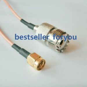 SMA Male to UHF Female SO-239 Connector RG316 Cable Handheld Radio Antenna
