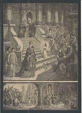 Holy card lamina antique de San Joaquin y Santa Ana santino image pieuse