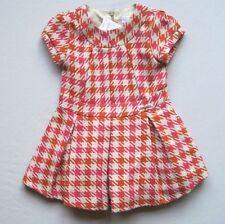 MAYORAL CHIC 2 Yrs (18-24 Mo?) Pink Orange Plaid Dress NWT NEW 92 cm Fall Wool