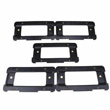 5x Rear License Plate Bracket Black Cover Trim For Audi BMW VW Mercedes-Benz