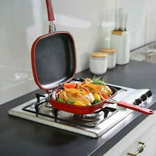 Baking Pancake Square Double Sided Kitchen Trays Omelette Frying Pan Non-stick