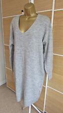 NEW LOOK Soft Grey Midi Jumper Dress Size 12/14 (M) BNWT