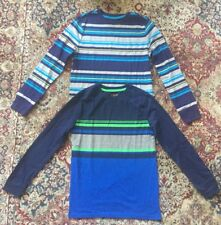 Cat & Jack Target Long Sleeved Shirts Boys Loy Of 2 Size Large Striped NEW