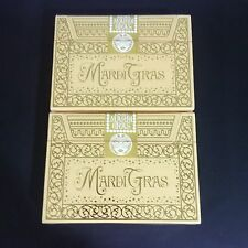 Mardi Gras Limited Rare Custom Playing Cards Numbered Gold Seal New Orleans