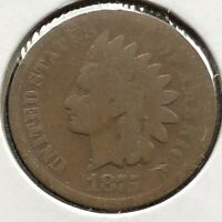 1875 Indian Head Cent 1c Circulated #10869