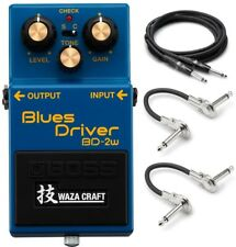 New Boss BD-2W Waza Craft Overdrive Guitar Effect Pedal w/ Hosa Cables!