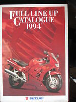 BROCHURE CATALOGUE POSTER 1994 MOTO  GAMME SUZUKI    PROSPECTUS