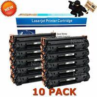 10PK CF283A High Yield Bk Toner for HP 83A LaserJet M201DN M201DW M225DN M225DW