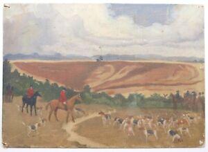 Kathleen Margaret Pearson (1898-1961) Oil painting. Fox hunt, Hounds Slade, R.A.