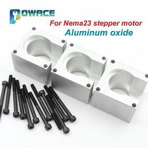3Pcs Nema23 57 Stepper Motor Bracket Mounts Support+12Pcs Installation Setscrew