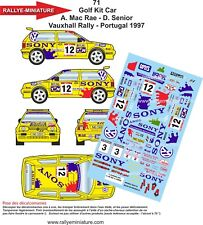DECALS 1/43 REF 71  Golf Kit Car Mac Rae Senior Vauxhall Rally Portugal 1997