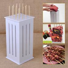 New DIY Food Slicer Brochette BBQ Grill Shish Kebab Maker Kit w/32 Bamboo Skewer