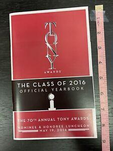 2016 TONY AWARDS Nominee-Only Luncheon YEARBOOK! Lin-Manuel Miranda, HAMILTON +!