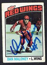 Dan Maloney #101 signed autograph auto 1976-77 O-Pee-Chee OPC Hockey Card