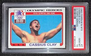1983 Topps - CASSIUS CLAY / ALI -  Olympic Heroes Gem Mint PSA 10! POP 22🐐📈