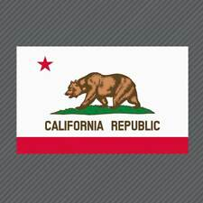 California State Flag Decal - Californian Bear Republic Golden State Sticker