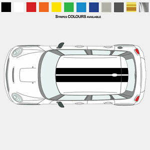For MINI Cooper F55 Model Twin Stripes Roof Kit VINYL STICKERS DECAL Graphics