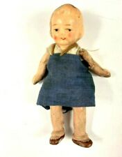 """1920s Antique Miniature Bisque Jointed Girl Doll Child Vintage Hand painted 3"""""""