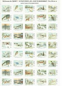 s26902) SWEDEN 1990/91 MNH** Tubercolosis Christmas Sheet God Helg cinderella