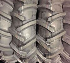(2) 14.9X24 Tractor Tires 6Ply Tubeless Heavy Duty R1 NEW TRACTOR TIRES