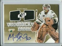 2011-12 SPx Flashback Dual Fabric Autographed Marty Turco - Dallas Stars