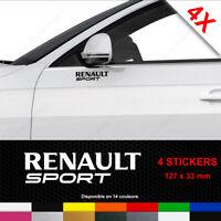 RENAULT SPORT Stickers 4 Autocollants Adhésifs Portière Porte Voiture