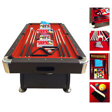 7' Feet Billiard Pool Table Snooker mod. Red Devil Full Set Accessories Game