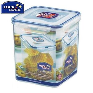 Lock And Lock Tall Square Container 2.6L Food Storage Solution Kitchen Home New