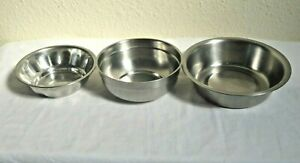 3 ASSORTED STAINLESS STEEL BOWLS