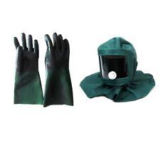 Sand Blasting Hood  Anti Wind Protective Mask and 1 Pair Sand Blasting Gloves