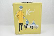 Barbie Ken Doll Carrying Case Yellow Vinyl 1962 Mattel Ponytail