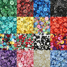 Mixed Buttons / Plastic Buttons / Assorted Buttons & Shapes / Arts & Crafts
