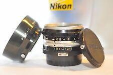 Nikon F Nikkor-S 5cm f/2 50mm NON-AI PRIME standard FIXED lens Nippon Kogaku
