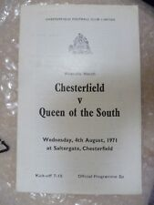 1971 CHESTERFIELD v QUEEN of the SOUTH, 4th Aug ( Friendly Match)
