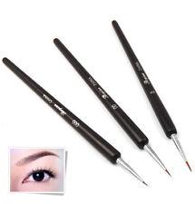 3 x Tiny UV Gel Acrylic Nail Art Tips Salon Drawing Pen Brush Painting Tool Set