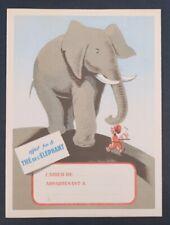 Protège cahier Thé éléphant tea elefant copybook