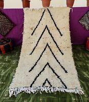 Tribal Vintage Beni Ourain Moroccan Handmade Rug Azilal Berber Carpet 3' x 5'
