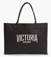 VICTORIA'S SECRET SPORT BLACK SHOULDER BAG GYM PURSE LARGE TOTE CANVAS SHOPPER