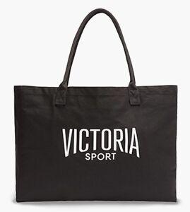 VICTORIA'S SECRET Sport Noir Sac Bandoulière Gym Porte-Monnaie Grand Toile Cabas