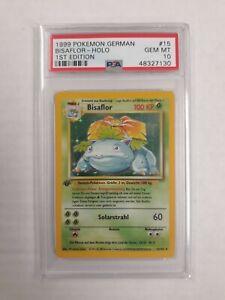1999 Pokemon German Bisaflor Holo 1st Edition 15/102 PSA 10 (Venusaur)