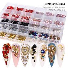 1 коробка смешанные размер стекла для дизайна ногтей стразы пришивные Ab хрустальные 3D драгоценные камни для маникюра