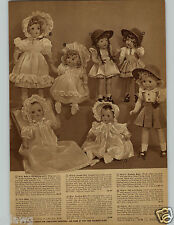 1942 PAPER AD Doll Horsman Baby Christening Jumper Pinafore Braids Jointed