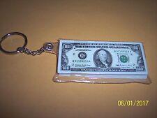 USA $100 Hundred Dollar Bill Key Chain Ring Souvenir Patriotic Gift Benjamin