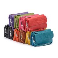 Women's PU Leather Handbag Mini Barrel Satchel Tote Shopper Shoulder Bag Purse