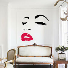 Bedroom Decor Vinyl Wall Sticker Mural Decal Marilyn Monroe Art Wallpaper