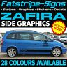 VAUXHALL ZAFIRA GRAPHICS STICKERS STRIPES DECALS VXR OPEL GSI TURBO 1.6 1.8 2.0