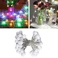 Mains Plug In 100LED 10M Globe Bulb Fairy String Lights new Decor Outdoor D2F4