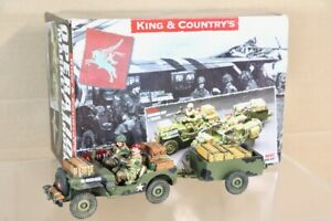 KING & COUNTRY MG002 OPERATION MARKET GARDEN JEEP with TRAILER BOXED pjm