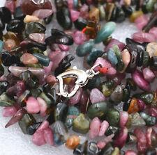 "Diy Gemstone Necklace 34 "" Hot 3x8mm Natural Tourmaline Freeform Gravel"