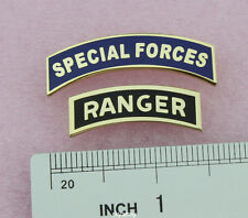 US ARMY SPECIAL FORCES TAB PIN & RANGER PIN DRESS BLUE PIN